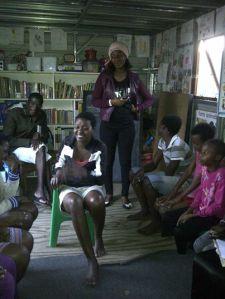 Le groupe des jeunes lors d'un débat