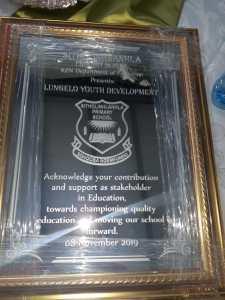 certificate lungelo
